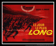 The Longest Day Style B 8x10 Ft Giant Billboard Original Movie Poster 1962