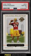 2005 Topps Football Aaron Rodgers Rookie Rc 431 Psa 10 Gem Mint