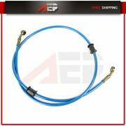 1200 Mm Blue Brake Line Oil Hose Pipe Braided Stainless Steel For Motorcycle