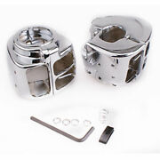 Pair Motocycle Switch Housings Cover For Harley Dyna Softail V-rod Night Train