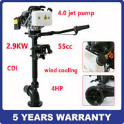 4stroke 4hp Outboard Motor Jet Pump Wind Cooling Boat Engine + Cdi System 55cc