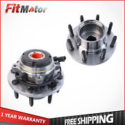 Passenger And Driver Front Wheel Hub Assy For Ford F350 F250 Excursion 4wd W/ Abs