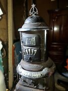Florence 750 Antique Parlor Cast Iron Woodstove Heater Pot Belly