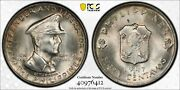 1947-s Pcgs Ms65 Philippines Macarthur 50 Centavos Silver Coin Item 26543a