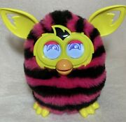 Furby Pink Black Stripes Yellow Ears And Feet Boom Interactive Pet Toy 2012 Hasbro