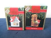 Vintage Hallmark Christmas Ornaments Magic Lights And Motion Lot Of Two
