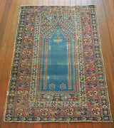Very Fine Antique Hand Knotted Turkish Ghiordes Pile Rug Circa 1900and039s