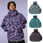 2021 A Bathing Ape Menand039s Color Camo Loose Fit Hoodie Jacket 3colors Japan New