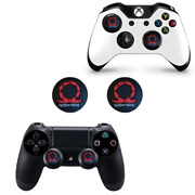 2x God Of War Thumb Grips For Ps4 Xbox One X S Joystick Analog Caps