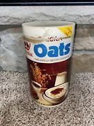 Vintage Red Owl Stores Quick Oats 42 Oz Paper Opened And Empty Container