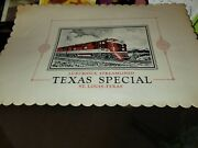 Frisco M-k-t Katy Railroad Texas Special Passenger Train Dining Car Placemats 5