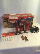 1985 Vintage Kenner Mask Rhino Tractor Rig W/box 2 Action Figures