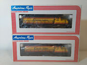 American Flyer 4-8459 And 6-48004 Gp-20 Chessie Diesels Powered And Non-poweed