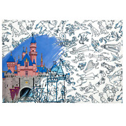 Disney Ink And Paint Reversible Placemat – Sleeping Beauty Castle