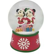 Christmas Snow Globes Mickey And Minnie Mouse Disney Decorations Gift Ideas
