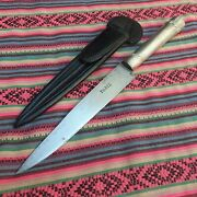 Antique Gaucho Big Knife French Blade Paris Solid 925 Silver. Carbon Steel