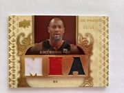 2008 Ud Premier Alonzo Mourning M I A Triple Game Used Patches 29/50 Pr3-am