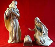 Lenox First Blessing Nativity Set Holy Family Mary Joseph And Jesus Mint In Box