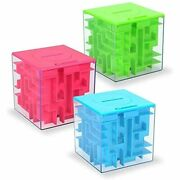 Money Maze Puzzle Box Twister.ck Holder Kids And Adults Birthday 3 Pack Toys