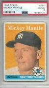Mickey Mantle 1958 Topps Psa 2 Centered/new Label/last Psa 2 Sold For 450+