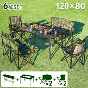 Bbq Stove Camping Equipment Chairs 6-piece Set No Assembly Required / New