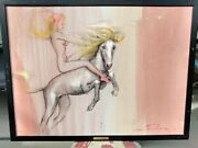 Earl Macpherson - Original Painting - Nude Female On Horse- Flying High - 1950s