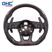 Real Carbon Fiber Steering Wheel For Audi S3 S4 S5 S6 S7 Rs3 Rs4 Rs5 Rs6 Rs7