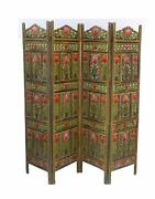 Handcrafted 4 Panel Wooden Room Partition/ Wooden Room Divider/ Wooden Screen