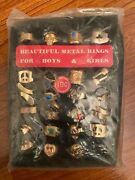 Vintage 1960s 10-cent Metal Rings Novelty Jewelry Vending Machine Display Panel