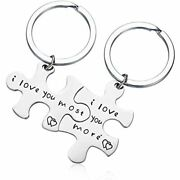 Runalp I Love You More Most Couples Keychains Setpersonalized Jewelry Sports
