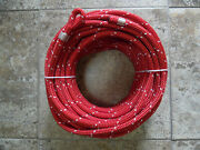 7/16 X 125 Ft. Dacron/spectra Halyardspliced In Flemish Eye Ruby Red/wh Trace