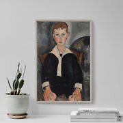 Amedeo Modigliani - Boy In Sailor Suit 1917 - Painting Poster Print Art Gift
