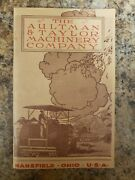 1919 Original Catalog The Aultman And Taylor Machinery Company Of Mansfield Ohio