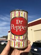 Dr Pepper Vintage Flat Top Candy Stripe Soda Can - Dallas, Texas