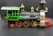 1987 New Bright G Scale Train Set Denver Express Engine Tender Cars Caboose Trac