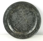 Antique 10.75 Pewter Charger Plate Dish Touch Marks London T142