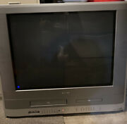 Toshiba Mw24fp3 24 Stereo Crt Tv/dvd/vcr Combination Video Gaming Game Retro