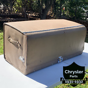 Vintage Original 1925 - 1935 Accessory 36 Leather Auto Trunk With Cover