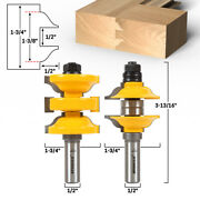 Ogee 2 Bit Entry Door Rail And Stile Router Bit Set - 1/2 Shank - Yonico 12265