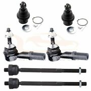 6pcs Front Inner Outer Tie Rods Lower Ball Joints For 2003 2004 Ford Expedition