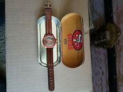 san Francisco 49ers Fossil Watch, 1993 Nflp Collectors Watch And Tin. Vintage