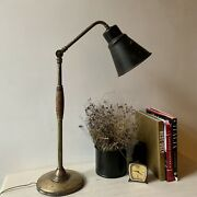 Antique Modern Brass Russian Table Lamp 1920s Adjustable