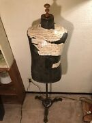 Antique Brass Base/stand Dress Form Mannequin, Harris And Sheldon Limited, Uk