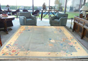A Sensational Antique 9and039 X 10and039 Art Deco Chinese Rug Must Seereduced
