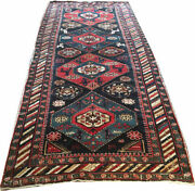 An Antique Worn Out Caucasian Shirvan Area Rug