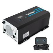3000 Watt 12v Dc To 120v Ac Pure Sine Wave Inverter Charger W/ Lcd Display