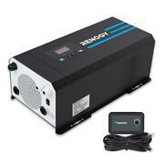 2000 Watt 12v Dc To 120v Ac Pure Sine Wave Inverter Charger W/ Lcd Display