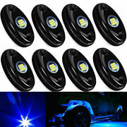 8x Oval Marine Boat Led Stern Lights Blue Cabin Deck Courtesy Waterproof Tos
