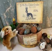 Primitive Antique Vintage Style Ye Old Tallow Candles 1762 Rabbit Bunny Sign