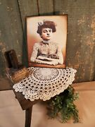 Old Victorian Antique Vintage Style Tattoo Lady Photograph Sideshow Circus Sign